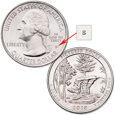 Image for 2018-S Unc. Pictured Rocks National Lakeshore Quarter from Littleton Coin Company