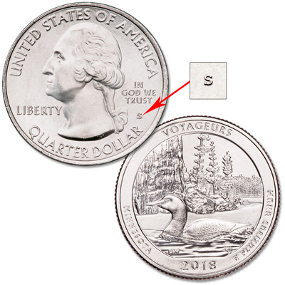Image for 2018-S Unc. Voyageurs National Park Quarter from Littleton Coin Company