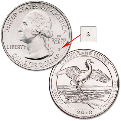 Image for 2018-S Unc. Cumberland Island National Seashore Quarter from Littleton Coin Company