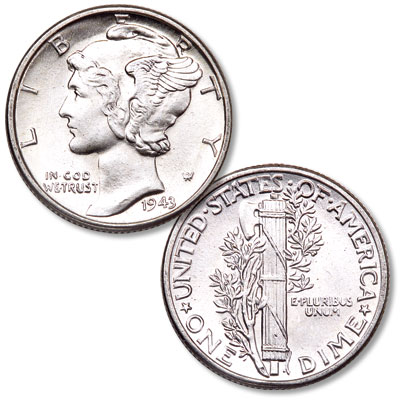 Image for 1943 Mercury Dime from Littleton Coin Company