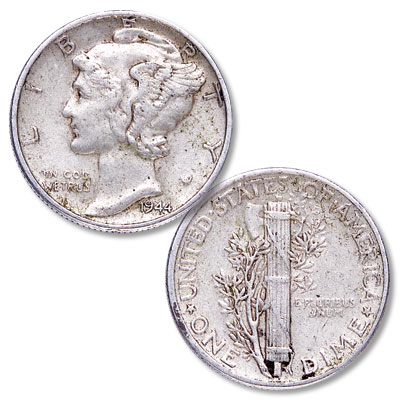 Image for 1944 Mercury Dime from Littleton Coin Company