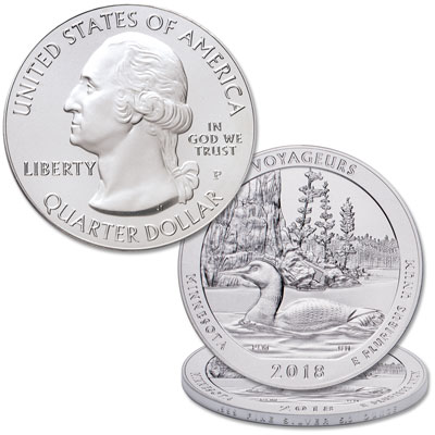 Image for 2018-P 5 oz. Silver Voyageurs National Park Coin from Littleton Coin Company