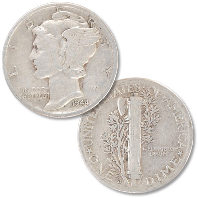 Image for 1944-D Mercury Dime from Littleton Coin Company