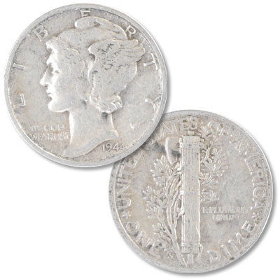 Image for 1944-S Mercury Dime from Littleton Coin Company