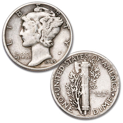 Image for 1945 Mercury Dime from Littleton Coin Company