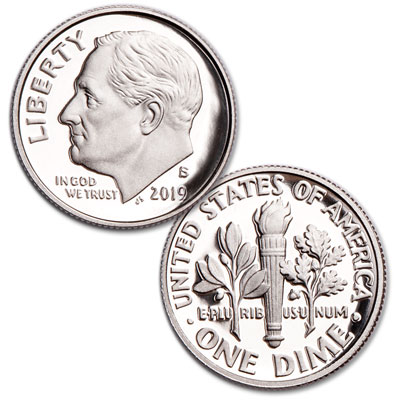 Image for 2019-S 90% Silver Roosevelt Dime from Littleton Coin Company
