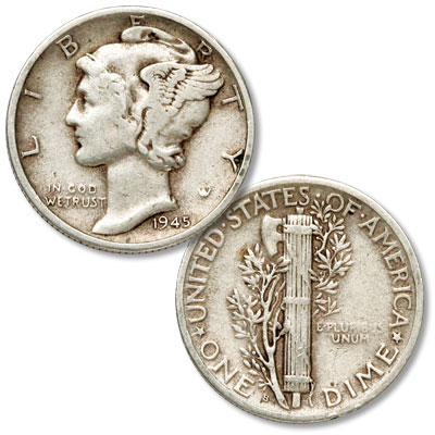 Image for 1945-S Mercury Dime, Micro from Littleton Coin Company
