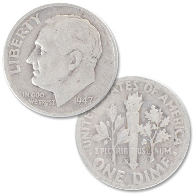 Image for 1947-S Roosevelt Silver Dime from Littleton Coin Company