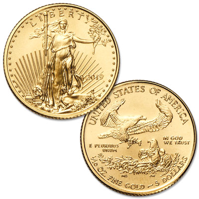 Image for 2019 $5 1/10 oz. Gold American Eagle from Littleton Coin Company
