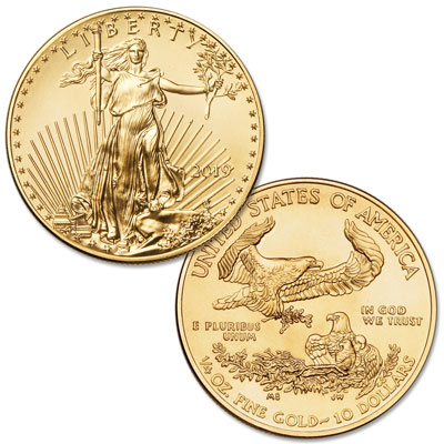 Image for 2019 $10 1/4 oz. Gold American Eagle from Littleton Coin Company