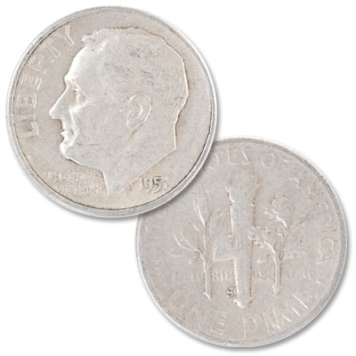 Image for 1951-S Roosevelt Silver Dime from Littleton Coin Company