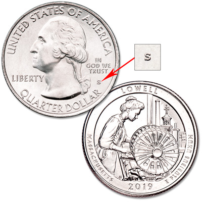 Image for 2019-S Unc. Lowell National Historical Park Quarter from Littleton Coin Company