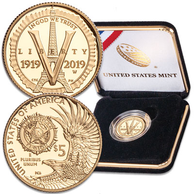 Image for 2019-W American Legion 100th Anniversary Commemorative $5 Gold from Littleton Coin Company