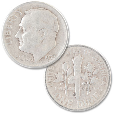 Image for 1952-S Roosevelt Silver Dime from Littleton Coin Company