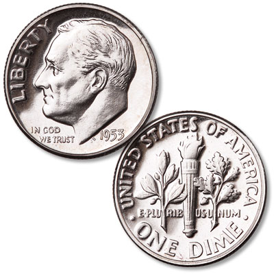 Image for 1953 Roosevelt Silver Dime from Littleton Coin Company