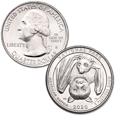 Image for 2020-S Unc. National Park of American Samoa Quarter from Littleton Coin Company