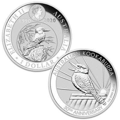 Image for 2020 Australia 1 oz. Silver $1 Kookaburra from Littleton Coin Company