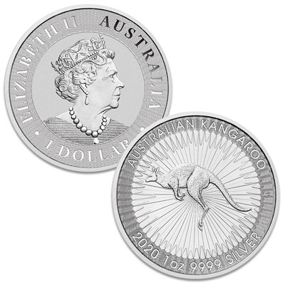 Image for 2020 Australia 1 oz. Silver $1 Kangaroo from Littleton Coin Company