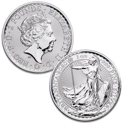 Image for 2020 Great Britain 1 oz. Silver £2 Britannia from Littleton Coin Company