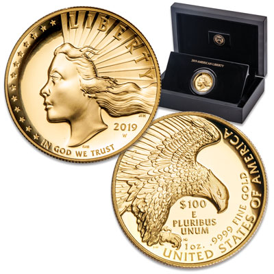 Image for 2019-W Gold 1 oz. $100 American Liberty from Littleton Coin Company