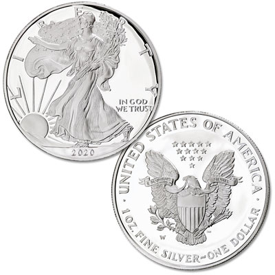 Image for 2020-W Silver American Eagle from Littleton Coin Company