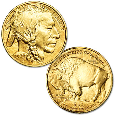 Image for 2020 $50 1 oz. Gold American Buffalo from Littleton Coin Company