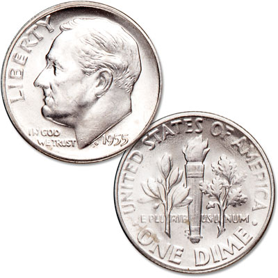 Image for 1955-S Roosevelt Silver Dime from Littleton Coin Company