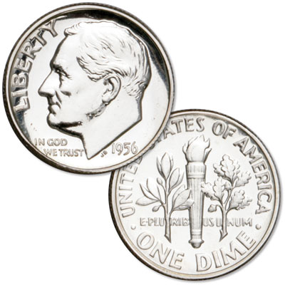 Image for 1956 Roosevelt Silver Dime from Littleton Coin Company