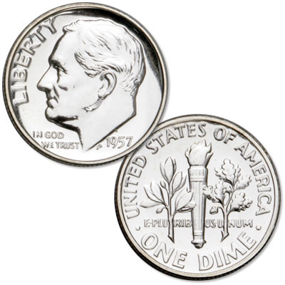 Image for 1957 Roosevelt Silver Dime from Littleton Coin Company