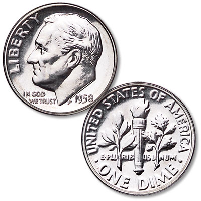 Image for 1958 Roosevelt Silver Dime from Littleton Coin Company