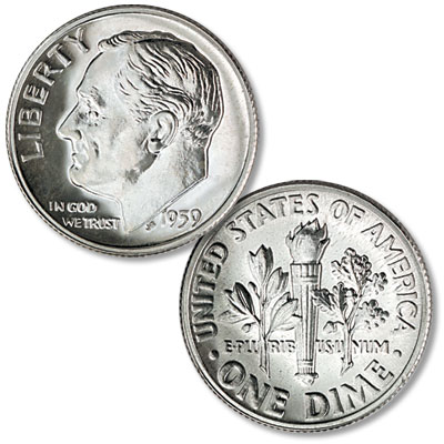 Image for 1959 Roosevelt Silver Dime from Littleton Coin Company