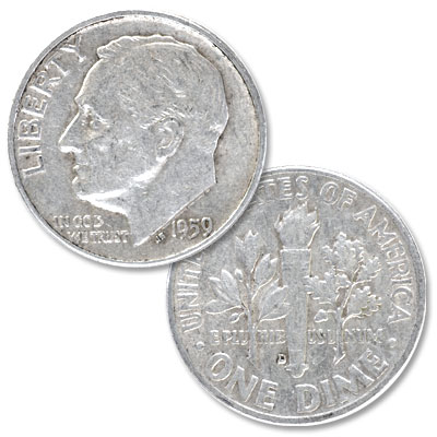 Image for 1959-D Roosevelt Silver Dime from Littleton Coin Company
