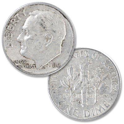 Image for 1960-D Roosevelt Silver Dime from Littleton Coin Company