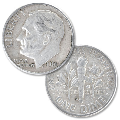 Image for 1961-D Roosevelt Silver Dime from Littleton Coin Company