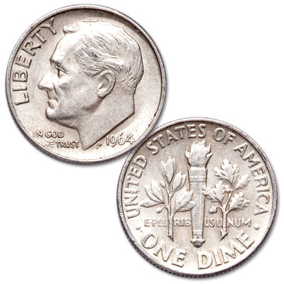 Image for 1964 Roosevelt Silver Dime from Littleton Coin Company