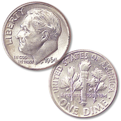 Image for 1964-D Roosevelt Silver Dime from Littleton Coin Company