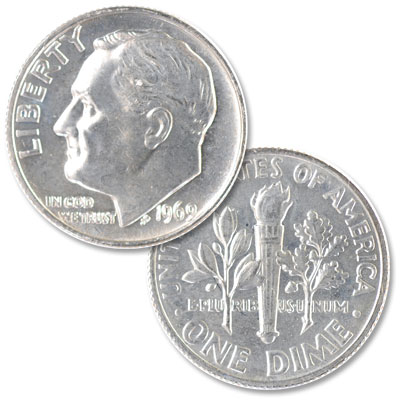 Image for 1969 Roosevelt Dime from Littleton Coin Company