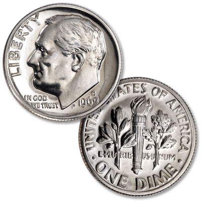 Image for 1969-S Roosevelt Dime from Littleton Coin Company