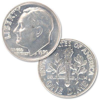 Image for 1970 Roosevelt Dime from Littleton Coin Company