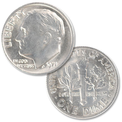 Image for 1971 Roosevelt Dime from Littleton Coin Company