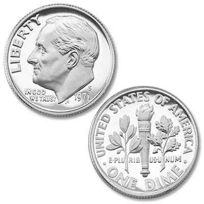 Image for 1971-S Roosevelt Dime from Littleton Coin Company