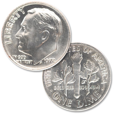 Image for 1972 Roosevelt Dime from Littleton Coin Company