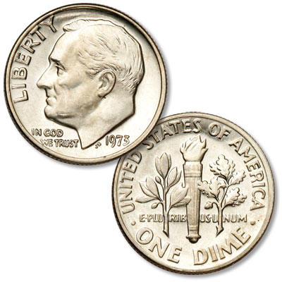 Image for 1973 Roosevelt Dime from Littleton Coin Company