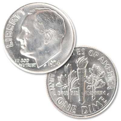 Image for 1974 Roosevelt Dime from Littleton Coin Company