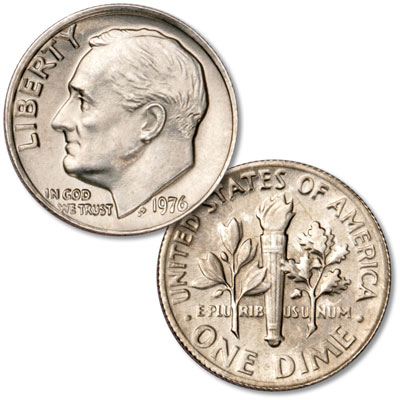 Image for 1976 Roosevelt Dime from Littleton Coin Company