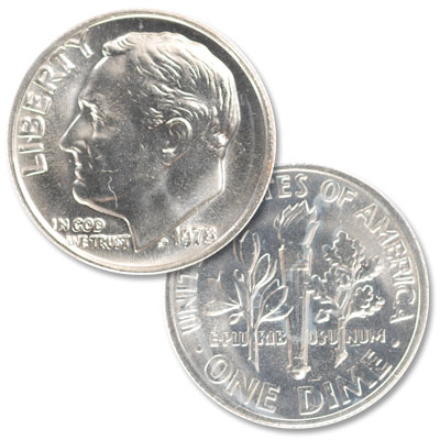 Image for 1978 Roosevelt Dime from Littleton Coin Company