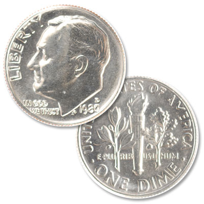 Image for 1980-D Roosevelt Dime from Littleton Coin Company