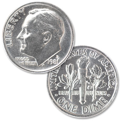 1981-P Roosevelt Dime | Littleton Coin Company