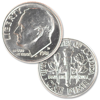 Image for 1981-D Roosevelt Dime from Littleton Coin Company