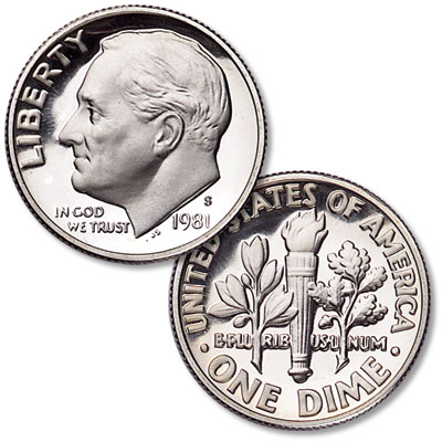 Image for 1981-S Roosevelt Dime, Filled S from Littleton Coin Company